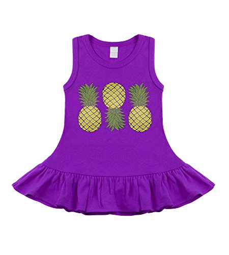 My Baby Rocks Hala Kahiki Pineapples Purple Sleeveless for sale  Delivered anywhere in USA