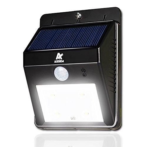 Wireless Outdoor Garage Lights: ASSEM® Led Solar Motion Sensor Lights , Waterproof