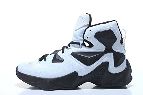 Mens-LEBRON-XIII-MVP-Panda-BlackWhite-Basketball-Shoes-High-To-Help