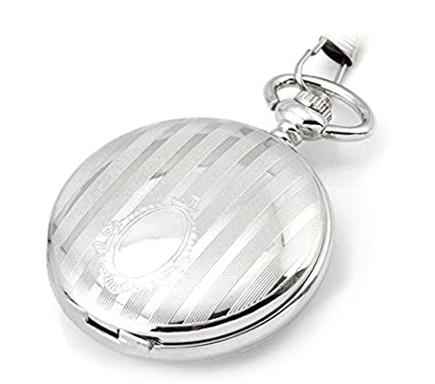 Pocket watch, mechanical watches,automatic,white,double cover,retro, gifts, M0007 (Sangdo Automatic Watches)