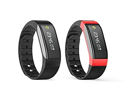 SMA Heart Rate Monitor Watch,Fitness Tracker Waterproof, Bluetooth Wristband ,Sports Bracelet Compatible Iphone/Android phones men/women