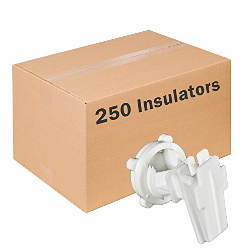 (Victor IRTW-Z Polytape Round-Post Insulator, 250 Pack)