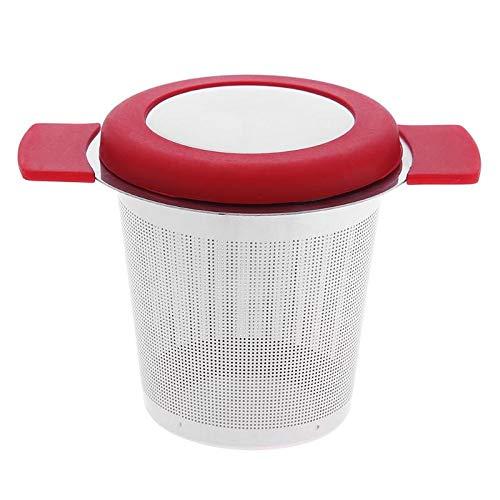Trex125 Reusable Stainless Steel Tea Infuser Basket Fine Mesh Tea Strainer with 2 Handles Lid Tea and Coffee Filters for Loose Tea Leaf -