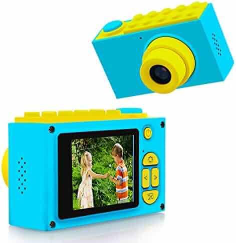 ShinePick Kids Digital Camera Mini 2 Inch Screen Children's Camera 8MP HD Digital Camera with Silicone Soft Cover & Micro SD Card (Blue)
