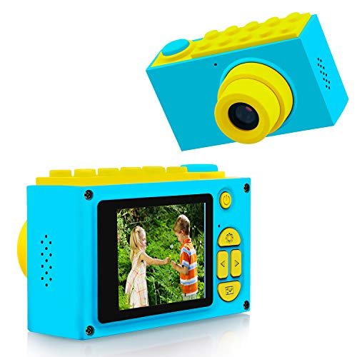 ShinePick Kids Digital Camera Mini 2 Inch Screen Children's Camera 8MP HD Digital Camera with Silicone Soft Cover & Micro SD Card (Blue)