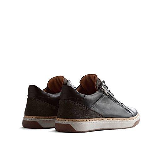 Travelin Nordby Low Schnürhalbschuhe Herren | Sneakers Men | Freizeitschuhe | Lederschuhe in Grau 46 EU
