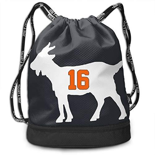 (Drawstring Backpack Bag Clemson Lawrence Goat Shoulders Bundle Backpack)