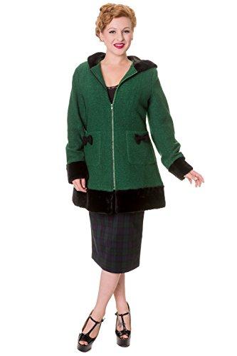 Banned Panda Ears Coat - 4 Colours - Green - UK 10 / US 6 / EU 36