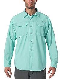 NAVISKIN Men's UPF 50+ Sun Protection Quick-Dry Outdoor Long Sleeve Shirt