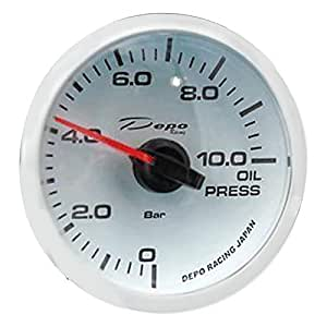 Depo Racing Gauge Oil Pressure - 60mm, White