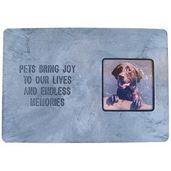 Pet Memory Stones, Memorial Headstone with Photo Frame,  Pets Bring Joy To Our Lives And Endless Memories , Large