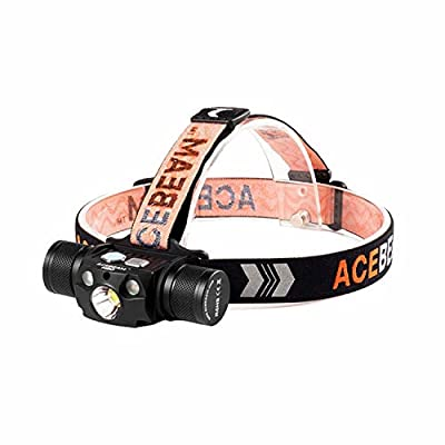 Image of Acebeam H30 Headlamp Max 4000 Lumens Bright White Light + Red Light + Green Light,21700 Rechargeable Power Bank Flashlight with USB-C,Best Head Lights for Camping Running Hiking(Cool White) Headlamps