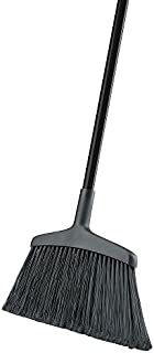 """product image for Libman Commercial 1115 Wide Commercial Angle Broom, Steel Handle, 15"""" Wide, Black Handle (Pack of 6)"""