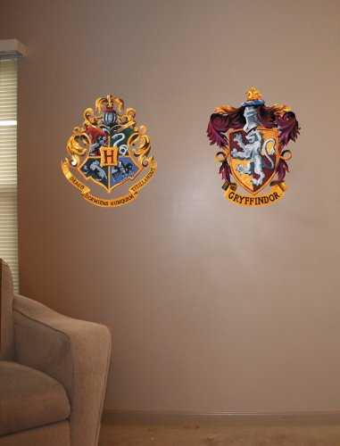 Roommates Rmk1551Gm Harry Potter Crest Peel And Stick Giant Wall (Witchcraft Peel)