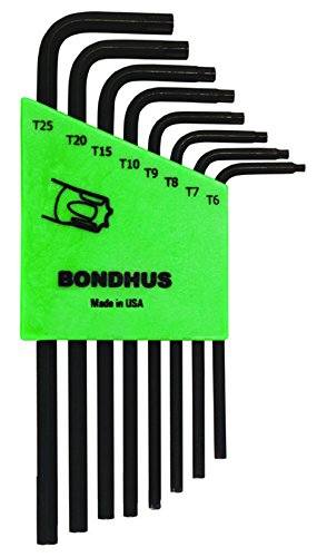 - Bondhus 32432 Set of 8 Tamper Resistant Star L-wrenches, Long Length, sizes TR6-TR25