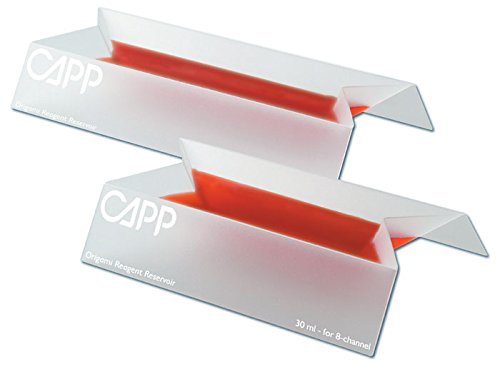 CappOrigami CA40505 Reagent Reservoirs for Eight and Sixteen Channel Pipettes, 30 mL, Bag of 50 Pieces