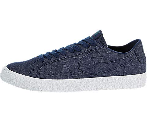Nike Men's SB Zoom Blazer Low CNVS Decon Blue Void/Blue Void/Geode Teal Skate Shoe 10 Men US ()