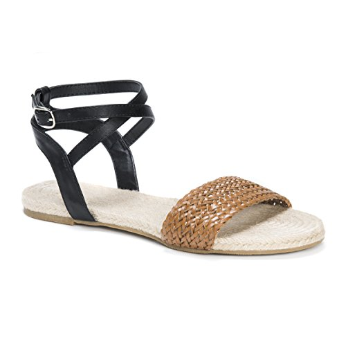 Muk LUKS Women's Cordelia Flat Sandal Brown