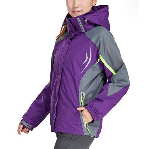 MAGCOMSEN Women's Outdoor 3 In 1 Waterproof Snowboarding Jacket Fleece Warm Raincoat