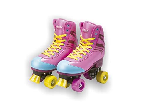 Patins Quatro Rodas Roller Skate, Fenix, Multicor