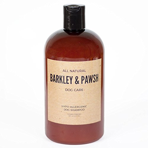 Coconut Hypoallergenic Shampoo - Barkley and Pawsh All-Natural Dog Shampoo Hypoallergenic and Gentle Coconut Cleanser 16 fl oz For All Skin and Coat Types