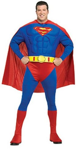 [DC Comics Deluxe Muscle Chest Superman] (Plus Size Deluxe Superman Costumes)