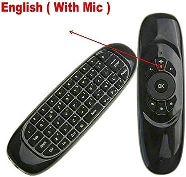 Ochoos C120 2.4 G Wireless Gyro Air Mouse Micrófono de voz Mini teclado para Android Smart TV Box Windows PC Control remoto: Amazon.es: Bricolaje y herramientas