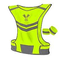 The 247 Viz Reflective Vest With Inside Pocket & 2 High Visibility Running Safety Bands