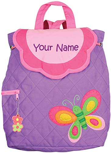 Personalized Stephen Joseph Purple Butterfly Quilted Backpack with Embroidered Name -