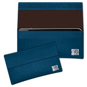 SIMON PIKE Cáscara Funda de móvil NewYork 2 azul petróleo Samsung Galaxy Young Duos Fieltro de lana