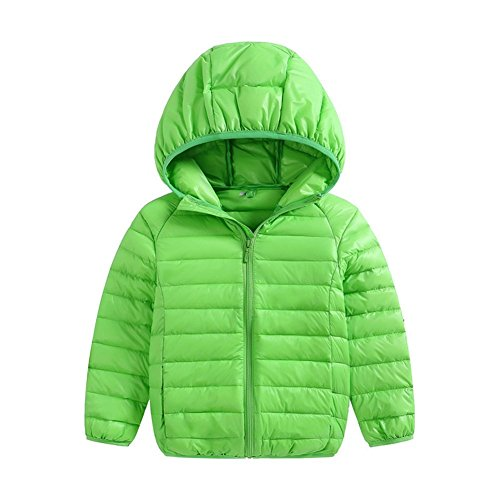 3T Pink Winter Fairy Hoodie Boys green Baby Down Packable Size Jacket Lightweight Girls Coats Kids Baby 2 6Zgq6