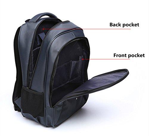 "liyingkeji gamuza de Oxford ocio mochila escolar mochila para ordenador portátil de 15""deportes de viaje mochila de senderismo (de la mochila libro bolsa mochila casual mochila para hombres mujeres l azul"
