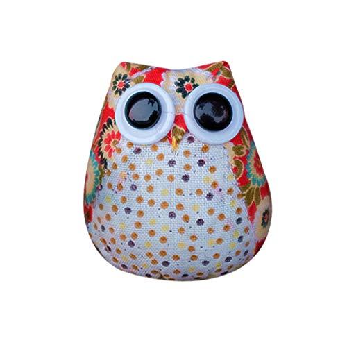 Fan-Ling 1pcs Cute Creative Gifts Cloth Cartoon Owl,Home Accessories,Miniature Landscape, Micro DIY Ornament Garden Doll Decoration,Mini Craft Landscape Decoration, 6.5x7.5cm (B)