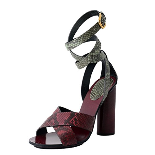 Gucci Python Skin High Heel Wrap Around Sandals Shoes US 8 IT 38; - Gucci High Heel Shoes