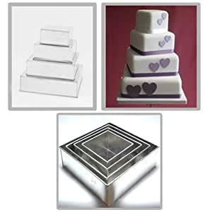 rectangle wedding cake pans tins multi layer cake pans wedding cake 19058