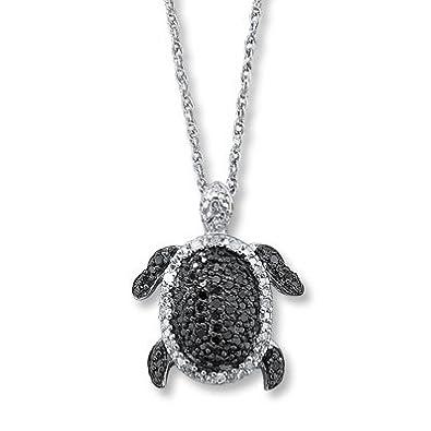 Amazoncom Jared Diamond Turtle Necklace14 ct tw Roundcut