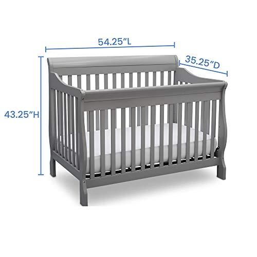419m6%2BLRwXL - Delta Children Canton 4-in-1 Convertible Crib - Easy To Assemble, Grey