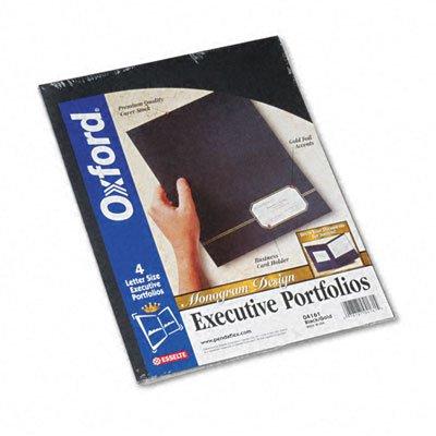 - Oxford Monogram Series Business Portfolio, Premium Cover Stock, Black/Gold, 4/Pack