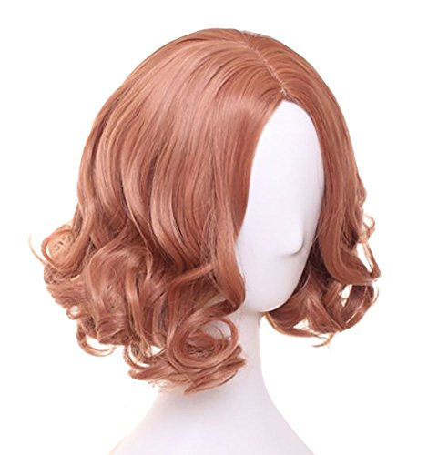 TOKYO-T Persona 5 Cosplay Haru Wig Carly Short Orange Red Brown