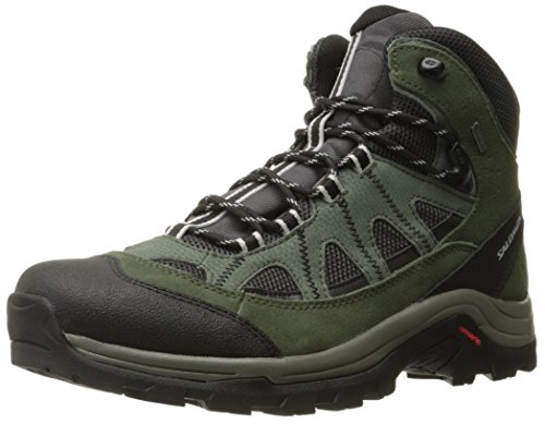 Salomon Men's Authentic LTR GTX Backpacking Boot, Asphalt/Night Forest/Aluminium, 10.5 M US