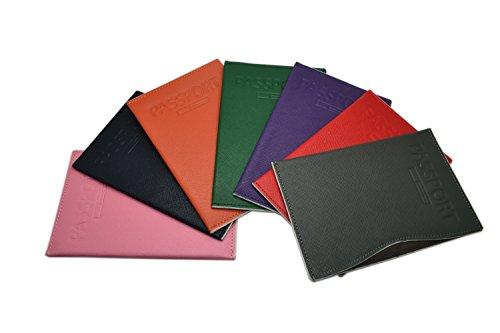 Pacer Go Slim Minimalist Passport Holder RFID Blocking Genuine Leather