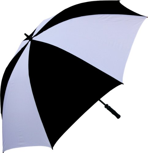 RainStoppers 68-Inch Oversize Windproof Golf Umbrella (Black and White) (Nylon Golf Umbrella)