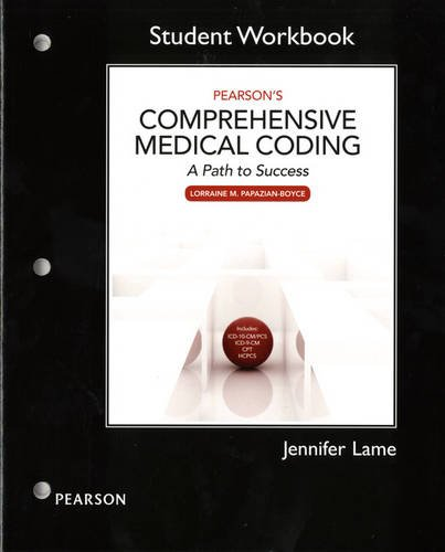 Workbook for Pearson's Comprehensive Medical Coding