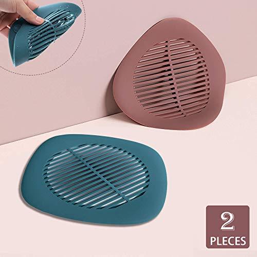 Hair Catch Shower Drain Hair Trap Shower Hair Drain Catcher Silicone Bathtub Drain Cover Hair Stopper Universal Home Drain Protector Tub Drain Filter Hair Cather Strainer for Bathroom Kitchen, 2 PCS