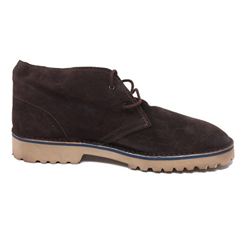 B3022 polacchino uomo LECROWN DESERT BOOTS scarpa marrone scuro shoe man [44]