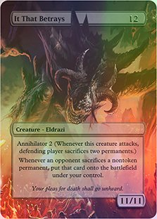 It That Betrays - Casual Play Only - Customs Altered Art Foil