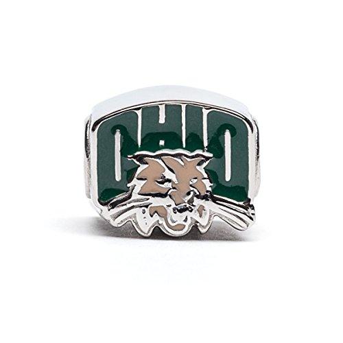 Ohio University Charm | OU Bobcats - OU Logo with Bobcat Charm | Officially Licensed Ohio University Jewelry | Ohio University Charms | Ohio University Bobcats | OU Logo | Stainless (University Graduation Charm)