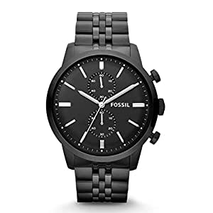Fossil Men's FS4787 Townsman Chronograph Stainless Steel Watch - Black
