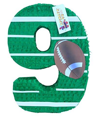 APINATA4U Large Number Nine Pinata Football Theme Football Party Favor