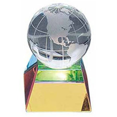 (Crystal Globe Paperweight, 2